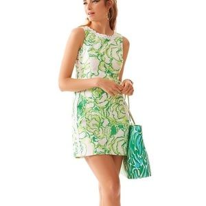 Retro Lily Pulitzer Crocodile Shift Dress